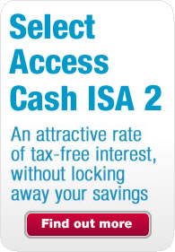 Promotion for Select Access Cash ISA